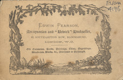 Advert for Edwin Pearson, bookseller